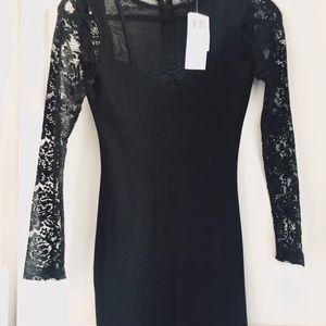 New French Connection black lace dress size US  0